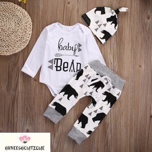 BabY Bear Little Matching Boutique 3pc Set